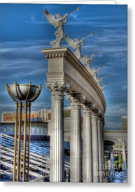 Caesars Palace Greeting Cards - Gaul awakened Greeting Card by David Bearden