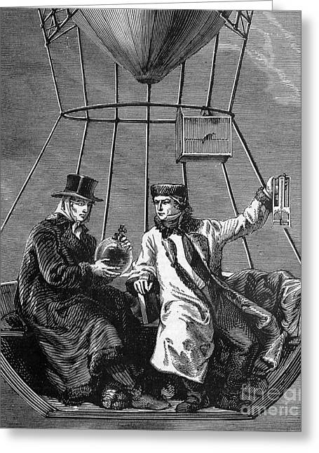 Gay-lussac And Jean-baptiste Biot, 1804 Greeting Card by Science Source