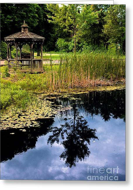Connecticut Scenery Greeting Cards - Gazebo Greeting Card by HD Connelly