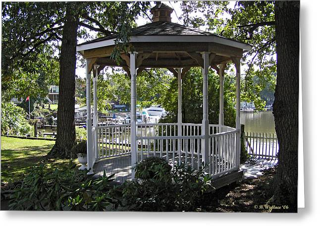 Lawn Chair Greeting Cards - Gazebo on Nabbs Creek Greeting Card by Brian Wallace