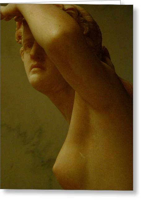 Nude Woman Torso Sculpture Greeting Cards - Gazing Nude Greeting Card by Jeff Lowe