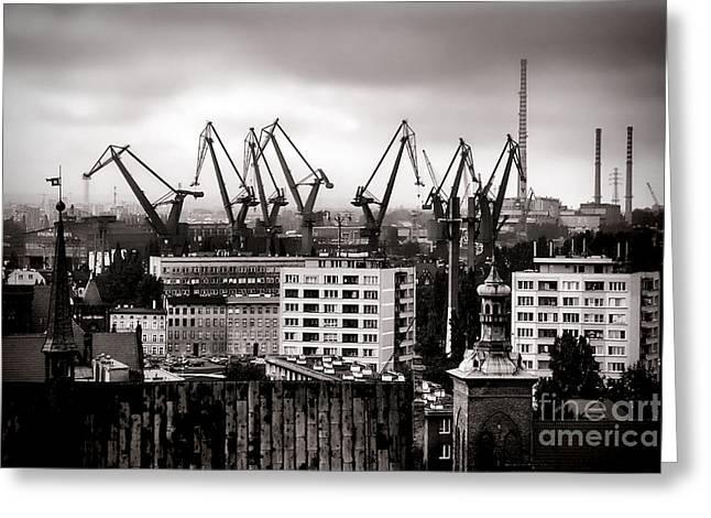 Gdansk Shipyard Greeting Card by Olivier Le Queinec