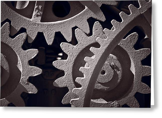 Gear Greeting Cards - Gears Number 1 Greeting Card by Steve Gadomski