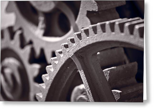 Gears Number 3 Greeting Card by Steve Gadomski
