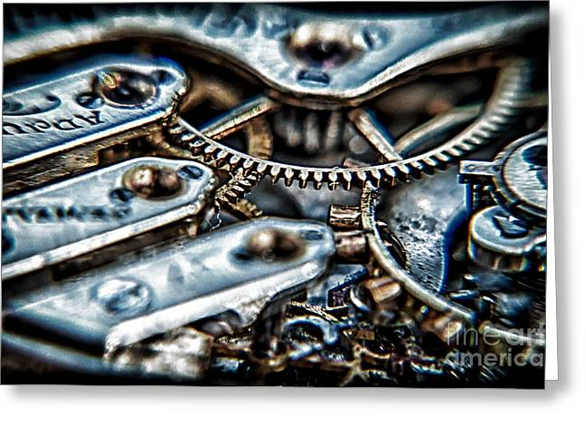 Gears Of Time Greeting Card by Noah Graham