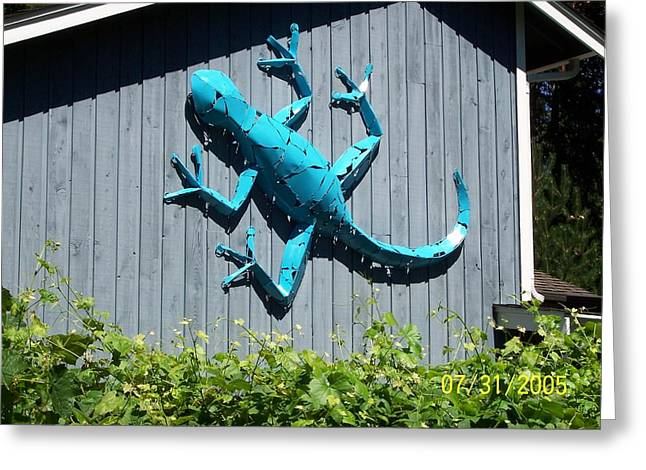 Southwest Sculptures Greeting Cards - Gecko Greeting Card by JP Giarde
