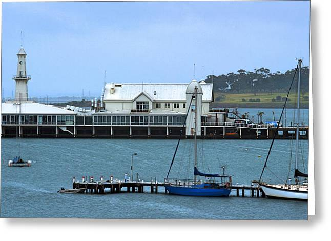 Geelong Pier Greeting Card by Tim Nichols