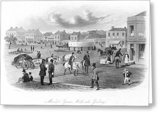 Geelong Greeting Cards - Geelong, Victoria, 1857 Greeting Card by Granger
