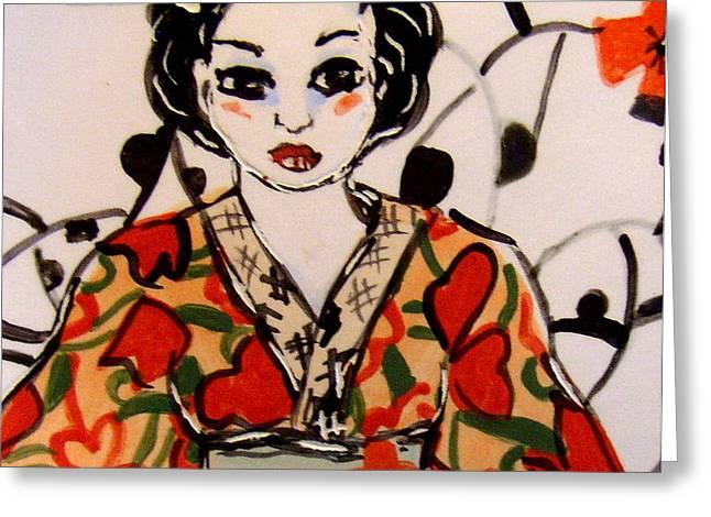 Geisha in training Greeting Card by Patricia Lazar