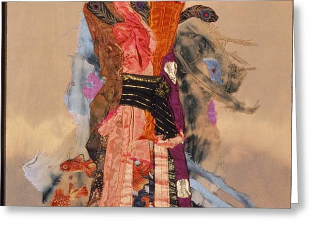 Geisha Greeting Card by Roberta Baker