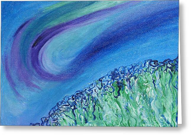 Skies Reliefs Greeting Cards - Gel Planet Greeting Card by Ruth Collis