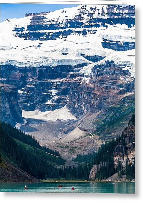 Gem Of The Canadian Rockies Lake Louise Greeting Card by Tommy Farnsworth