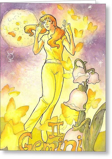 Arwen Greeting Cards - Gemini Greeting Card by Arwen De Lyon
