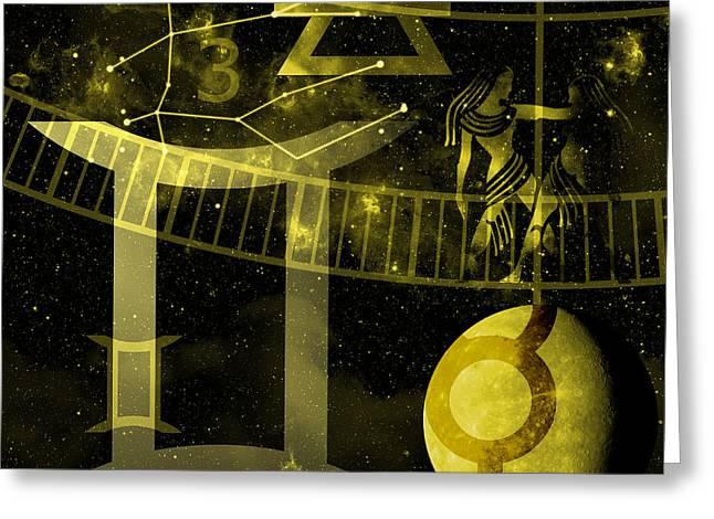 Air Element Greeting Cards - Gemini Greeting Card by JP Rhea