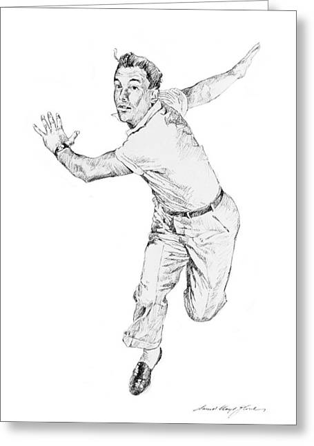 Tap Greeting Cards - Gene Kelly Greeting Card by David Lloyd Glover