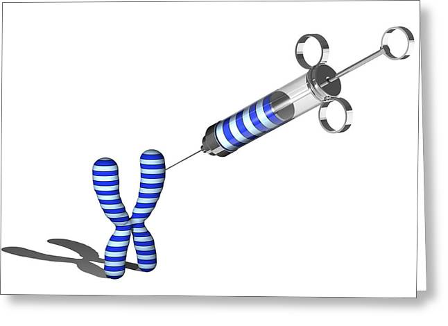 Gene Therapy, Conceptual Artwork Greeting Card by Laguna Design