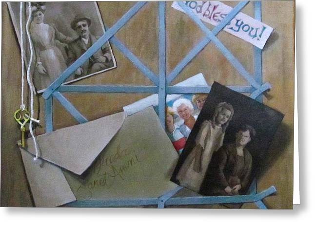 Genealogy Paintings Greeting Cards - Geneaology Greeting Card by Janet McGrath