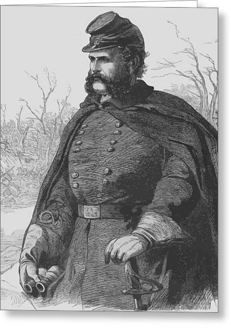Commander Greeting Cards - General Ambrose Burnside Greeting Card by War Is Hell Store