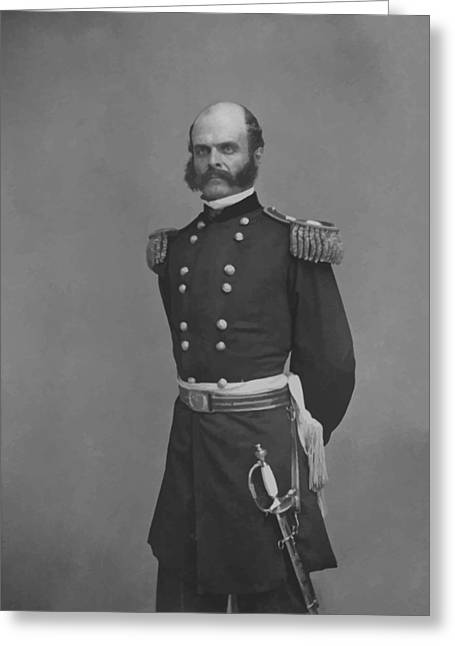 Commander Greeting Cards - General Ambrose Everett Burnside Greeting Card by War Is Hell Store