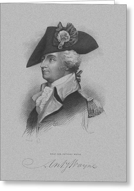 American Revolution Greeting Cards - General Anthony Wayne Greeting Card by War Is Hell Store