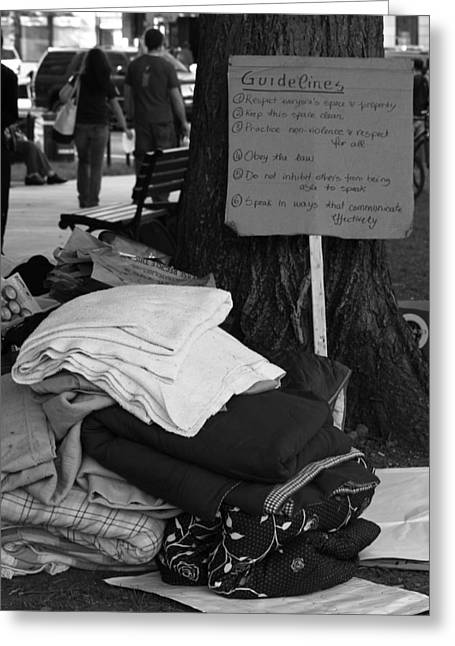 Occupy Greeting Cards - General Assembly Greeting Card by Sonya Anthony