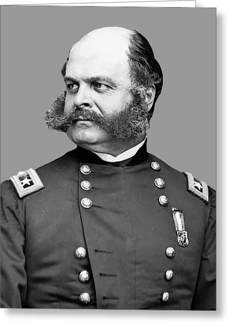 Sideburns Greeting Cards - General Burnside Greeting Card by War Is Hell Store