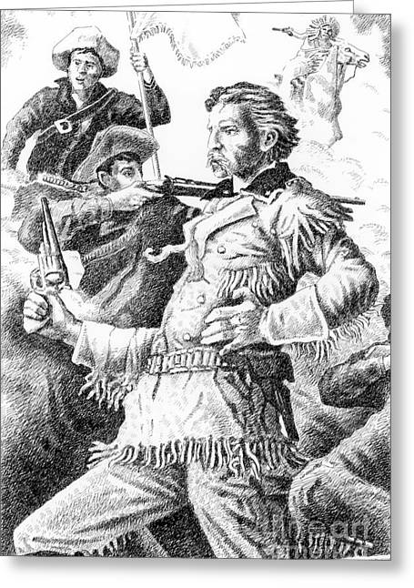 Chief Iron Tail Greeting Cards - General Custers Last Stand Greeting Card by Gordon Punt