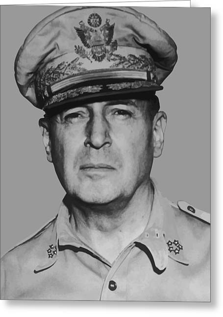 Point Greeting Cards - General Douglas MacArthur Greeting Card by War Is Hell Store