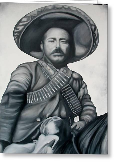 Jose Charles Greeting Cards - General Francisco Villa Greeting Card by Jose Charles