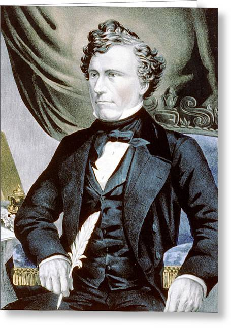 American Politician Greeting Cards - General Franklin Pierce - fourteenth President of the United States Greeting Card by International  Images
