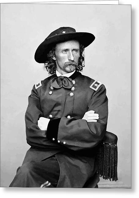 Last Greeting Cards - General George Armstrong Custer Greeting Card by War Is Hell Store