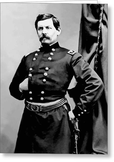 Confederate Digital Art Greeting Cards - General George McClellan Greeting Card by War Is Hell Store