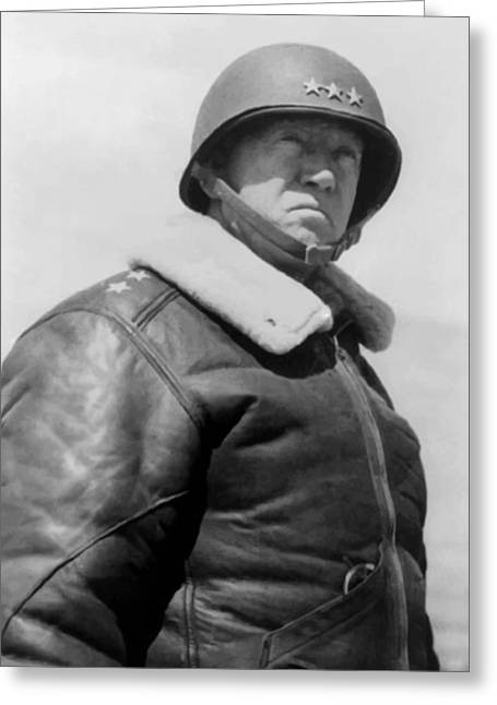 Commander Greeting Cards - General George S. Patton Greeting Card by War Is Hell Store