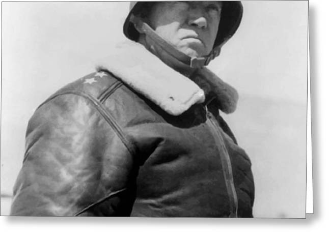 General George S. Patton Greeting Card by War Is Hell Store