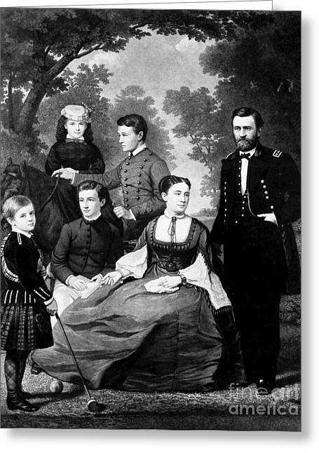 First-lady Greeting Cards - General Grant And Family Greeting Card by Granger