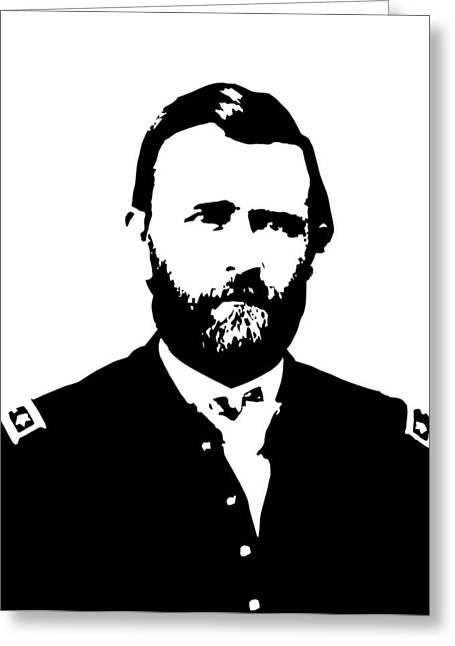 U.s Army Greeting Cards - General Grant Black and White  Greeting Card by War Is Hell Store