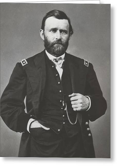 Commander Greeting Cards - General Grant During The Civil War Greeting Card by War Is Hell Store