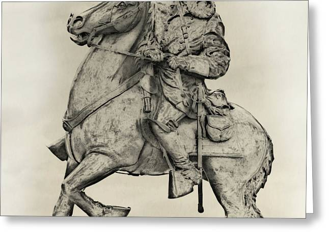 General James Longstreet Statue at Gettysburg  Greeting Card by Randy Steele