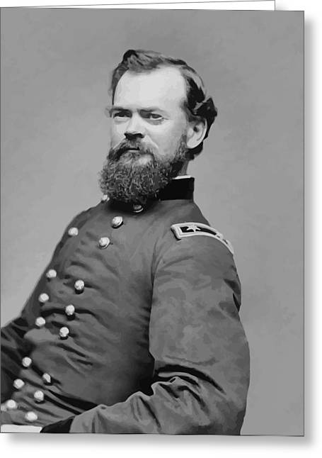 Leader Digital Art Greeting Cards - General James McPherson  Greeting Card by War Is Hell Store