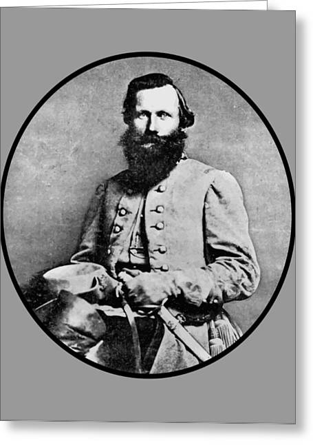 Confederate Digital Art Greeting Cards - General JEB Stuart Greeting Card by War Is Hell Store