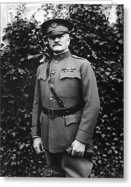 Wwi Digital Art Greeting Cards - General John J. Pershing Greeting Card by War Is Hell Store