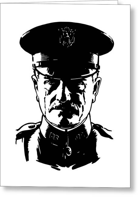 Wwi Digital Art Greeting Cards - General John Pershing Greeting Card by War Is Hell Store