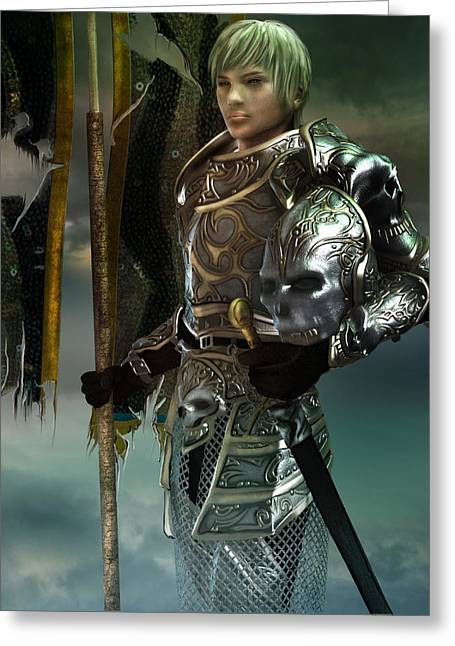Armor Concept Greeting Cards - General Greeting Card by Karen H