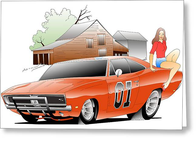 General Lee Digital Greeting Card by Lyle Brown
