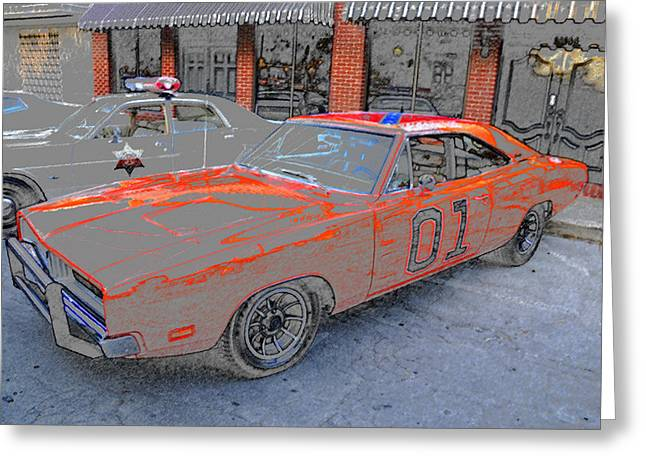 Art Of Muscle Greeting Cards - General Lee One Greeting Card by David Lee Thompson