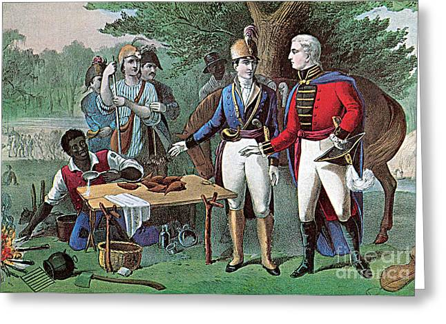 Colonial Man Greeting Cards - General Marion Aka The Swamp Fox Greeting Card by Photo Researchers