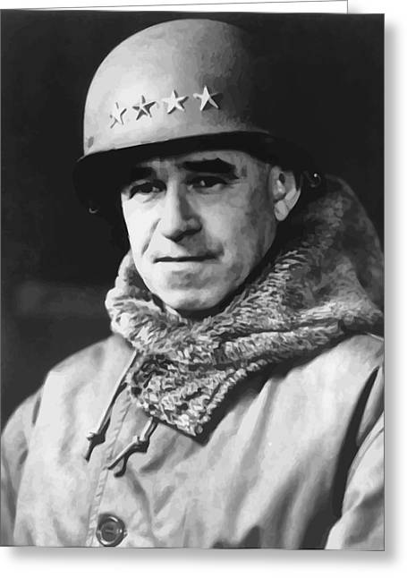 West Point Greeting Cards - General Omar Bradley Greeting Card by War Is Hell Store
