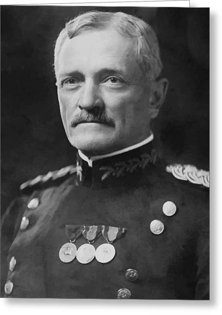 Wwi Digital Art Greeting Cards - General Pershing Greeting Card by War Is Hell Store