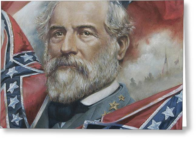 General Robert E Lee Greeting Card by Linda Eades Blackburn