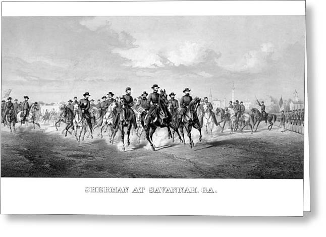 The Horse Greeting Cards - General Sherman At Savannah Greeting Card by War Is Hell Store